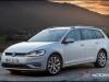 2017 Volkswagen Golf 7.5 white wagon front